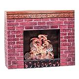 Shindigz Cardboard Christmas Fireplace Prop