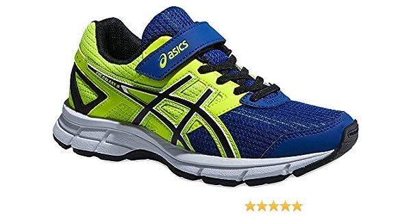 Asics Pre Galaxy 8 PS - Zapatillas de running para niño, color azul / amarillo / blanco / negro, Azul / Negro / Amarillo, 35: Amazon.es: Zapatos y complementos