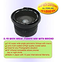 0.42X FISHEYE LENS- SONY PD170 PD150 VX2100 VX2000 58MM