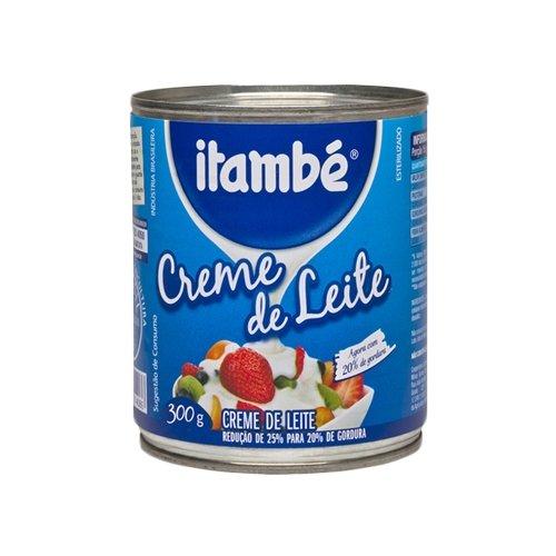 Itambé Traditional Table Cream - 10.5 oz | Creme de Leite Itambé Lata - 300g - (PACK OF 03)