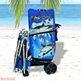 Wonder Wheeler Beach Cart - Ultra Wide Wheels with BodyBoard Pouch
