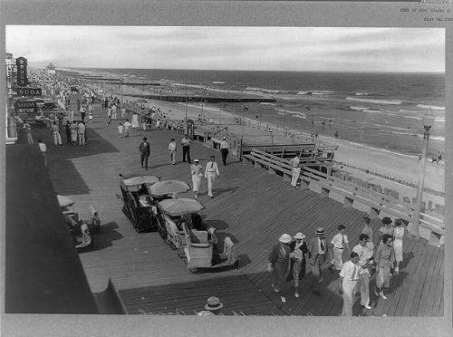 Photo: Boardwalk,beach,ocean,beaches,people,gathered,Ocean - Shops Maryland Ocean City