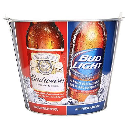 Beer Brand Full Color Aluminum Beer Bucket(Budweiser & Bud Light