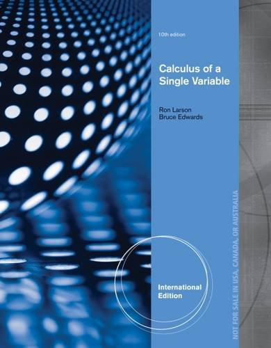 Calculus of a Single Variable -  Larson/Edwards, 10th Edition, Nonspecific Binding