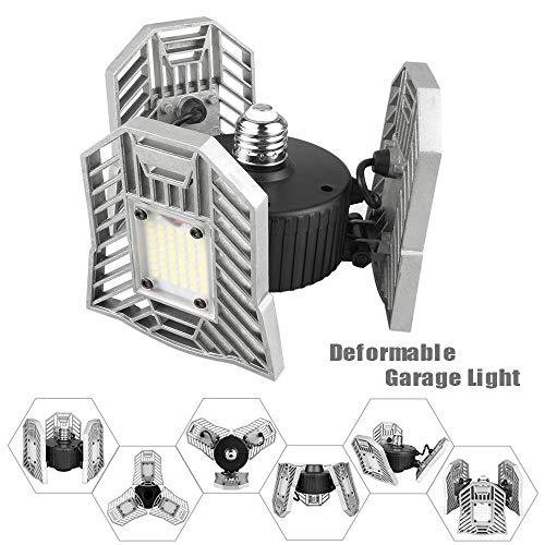 LED Garage Light Motion Detection - Motion Activated Aluminium LED - Best LED Light Bulb for Garage - 6000LM CRI Garage LED Lighting System - 3 Adjustable Panels - 2018 New Design LED Garage Lighting by JMTGNSEP (Image #7)