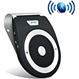 Bluetooth Speakerphone Wireless Portable Speaker Car Motion AUTO ON with HD Sound& Bass and 17H Playtime For Mobile Phone Music Playing, Hands-free Calling with HQ Car Charger- T821