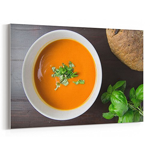 Westlake Art - Soup Food - 12x18 Canvas Print Wall Art - Canvas Stretched Gallery Wrap Modern Picture Photography Artwork - Ready to Hang 12x18 Inch (Homemade Tomato Bisque)