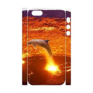 ALICASE Diy Customized Case Dolphin 3D Case for iPhone 5,5S [Pattern-1]