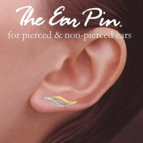 Orogem Sterling Silver Two Tone Double Curves Ear Pin Style Earrings