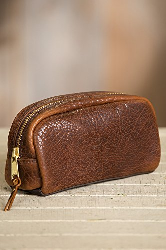 American Bison Leather Medium Travel Kit by Overland Sheepskin Co (Image #1)