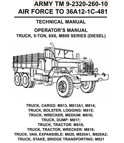 Manuals Combined: U.S. Army M809 M813 M813A1 M814 5, used for sale  Delivered anywhere in USA