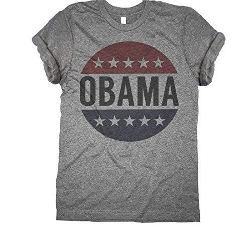 - Retro Obama Shirt Vintage Vote President Barack Obama Button Unisex T Shirt
