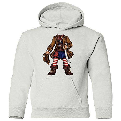 Amazing Items Pirate Captain Halloween Costume Unisex Youth Hoodie, X-Small, White (Common White Girl Halloween Costume)