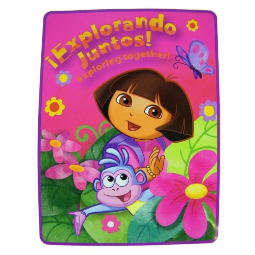 Pink Exploring Together Dora The Explorer Throw Blanket