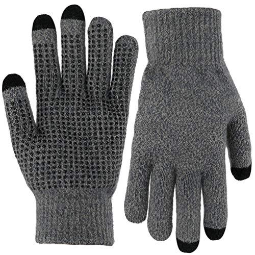 手袋 スマホ フリーサイズ ニット グローブ 滑り止め付 防寒