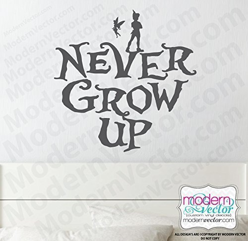 Amazoncom Peter Pan Never Grow Up Quote Vinyl Wall Decal Handmade