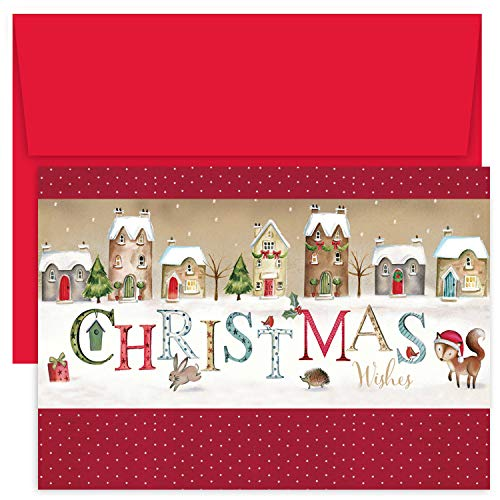Masterpiece Studios Hollyville 18 Cards / 18 Envelopes, Christmas Wishes Village ()