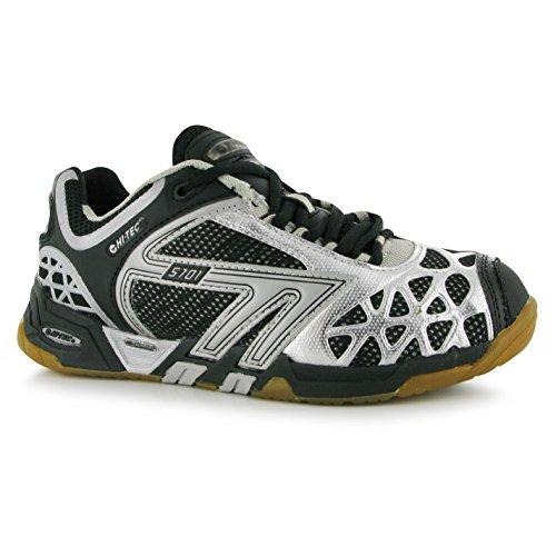 Hi-Tec S7014sys Intérieur cour Chaussures pour femme Noir/argent Sports Baskets Sneakers