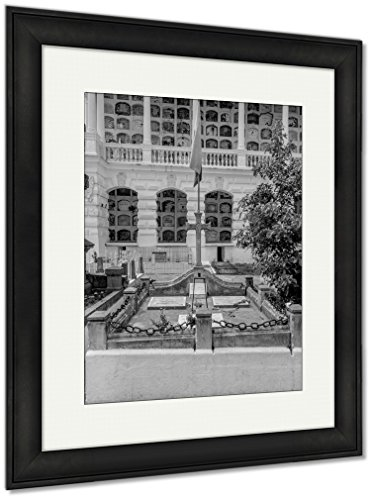 Ashley Framed Prints Spectacular View Cemetary San Diego Showing Typical Catholic Graves And Large, Wall Art Home Decoration, Black/White, 40x34 (frame size), Black Frame, AG6522973 by Ashley Framed Prints