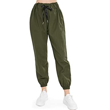 e14aed67a752d6 Image Unavailable. Image not available for. Color: ZAFUL Women's Jogger Pants  High Waisted ...