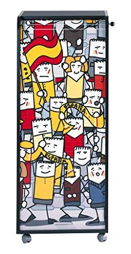 simmob orga110non960Spanien Fans 960Waschtisch Aufbewahrungsschuppen Büro Trolley Holz schwarz 47x 47,2x 107,6cm