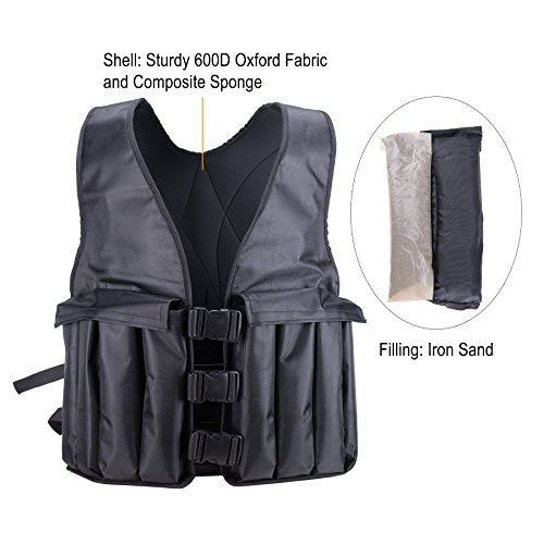 Pinty Fitness 20lbs Adjustable Weighted Vest for Men/Women Training Exercise