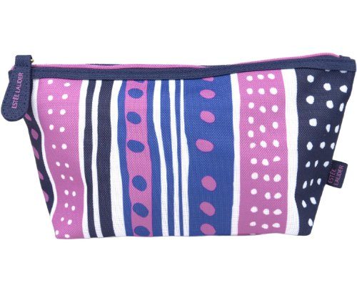 Estée Lauder Makeup Cosmetic Bag (Style-2 (Blue White Purple)) (Estee Lauder Makeup Bag)