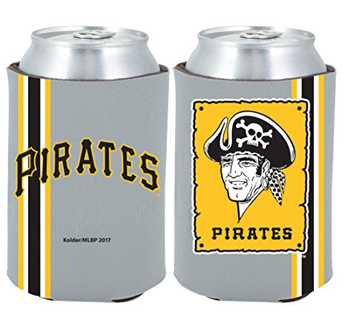 (Pittsburgh Pirates 2-PACK CAN Retro THROWBACK Koozie Neoprene Holder Baseball)