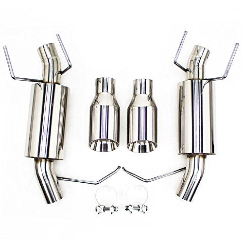 CB-1021A Stainless Steel compatible with Ford Mustang V6 2005-10 FlowMaxx Axle-Back Exhaust Kit Free Flow Rumbler Rev9