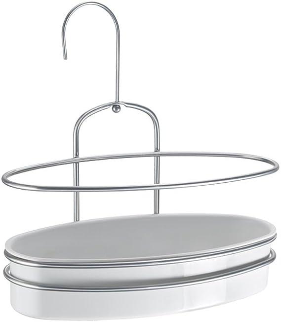 Metaltex – Estante de Ducha Orbit, Color Blanco/Plata: Amazon.es: Hogar