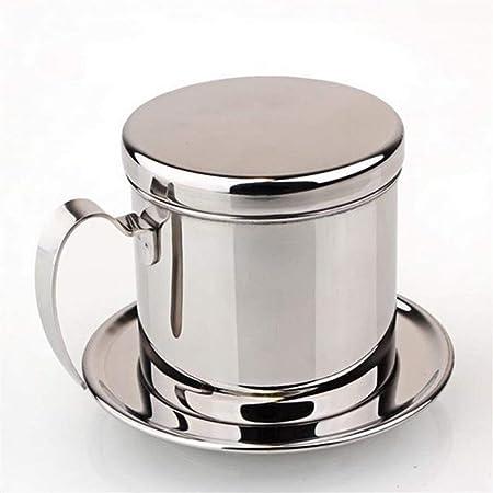 GLANGYU Filtro Cafe Filtro De Dripper De Café De Acero Inoxidable Portátil Cafetera Filtro De Cafetera De Goteo Filtros Herramientas (Color : Silver): Amazon.es: Hogar