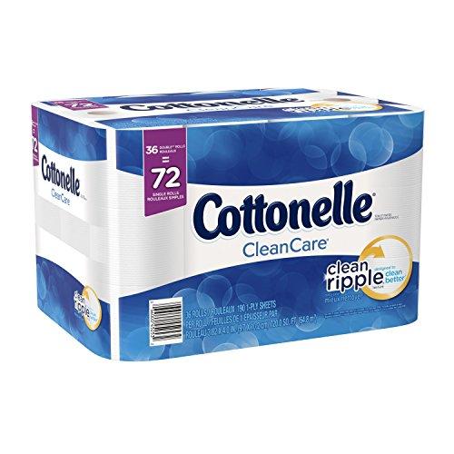 Cottonelle Clean Care Double Roll Bath Tissue, 36 Count (Paper Double Roll Cottonelle Toilet)