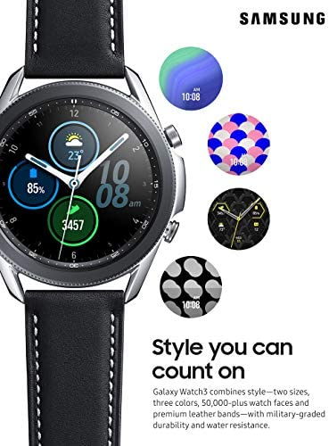 Samsung Galaxy Watch 3 (45mm, GPS, Bluetooth) Smart Watch with Advanced Health Monitoring, Fitness Tracking, and Long lasting Battery - Mystic Silver (US Version) 2