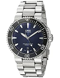 Oris Men's 'Aquis' Swiss Automatic Stainless Steel Diving Watch, Silver-Toned (Model: 73376534135MB)