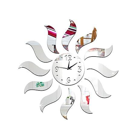 MCC Wall Clocks Stickers Pared Watch 3D Diy Mirror Quartz