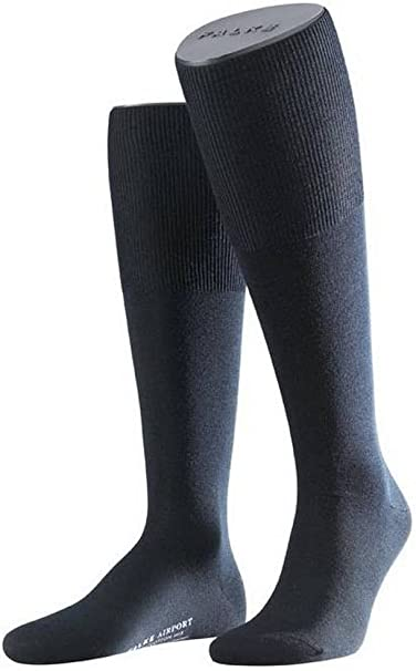 Dark Navy Falke Mens Energizing Cotton Knee High Socks