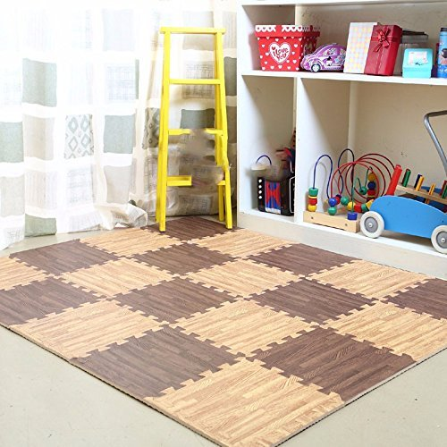 HOMEE Child Bedrooms Stitching Creeper Pad Assembly Spelling Floor Mat Thick Baby Climb up Pad Foam Rollmat Tatami,J),40 Pack