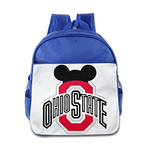 (HYRONE Ohio State Buckeyes Football Boys And Girls Schoolbag For 1-6 Years Old)