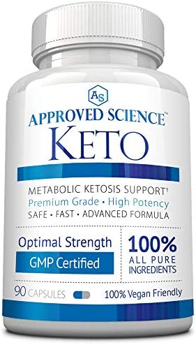 Approved Science® Keto: Pure Exogenous 4 Ketone Salts (Calcium, Sodium, Magnesium and Potassium) and MCT Oil to Boost Ketosis. 3 Bottles 3