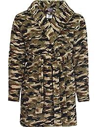 Boy's Coral Fleece Printed Medium Length Robe