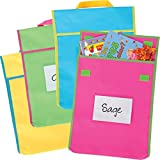 Large Book Pouches - Neon Colors - Set Of 4