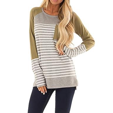 e0a83acb9da72 Amazon.com: VonVonCo Pullover Sweaters for Women, Striped Long ...