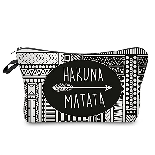 Roomy Cosmetic Bag,3 piece Set Deanfun Waterproof Travel Toiletry Pouch Makeup with Zipper (Hakuna Matata) by Deanfun (Image #4)