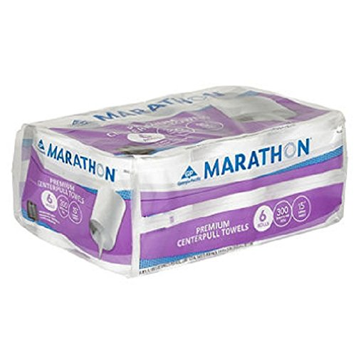 Marathon Centerpull Towels, 6 Rolls-300 sheets per roll, (Center Pull Towel Dispenser)