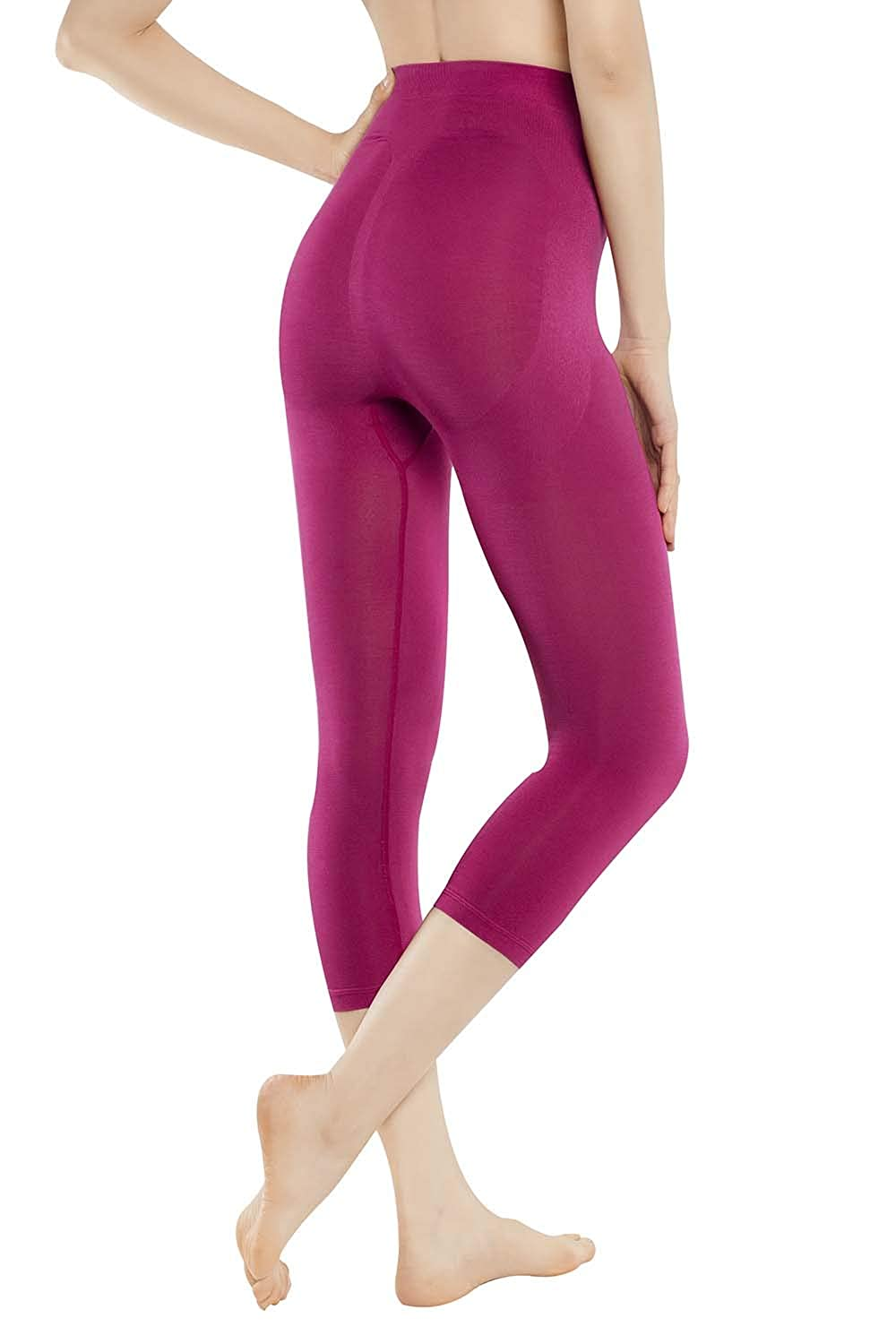 +MD Leggings Vita Alta massaggianti Fuseaux Dimagranti Anti Cellulite Pantaloncino Snellente