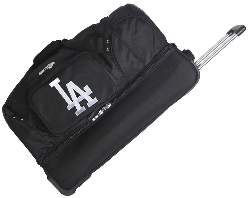 MLB Cleveland Indians Rolling Drop-Bottom Duffel