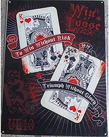 Hotrodspirit Plaque Jeux De Carte Crane Tete De Mort Poker 70x50cm Tole Deco Us Salon Tatouage Amazon Fr Cuisine Maison