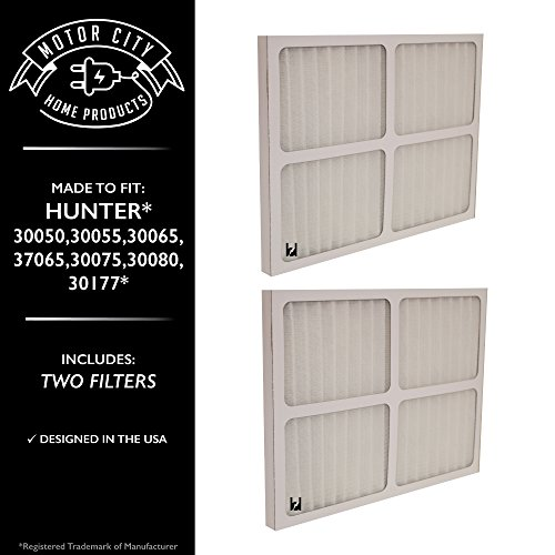 Hunter 30920 Compatible Air Purifier Filter, Motor City Home Products Brand Replacement (2)