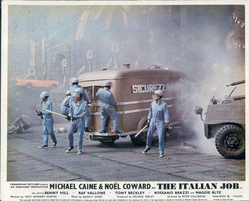 The Italian Job Original British Lobby Card Michael Caine Crew
