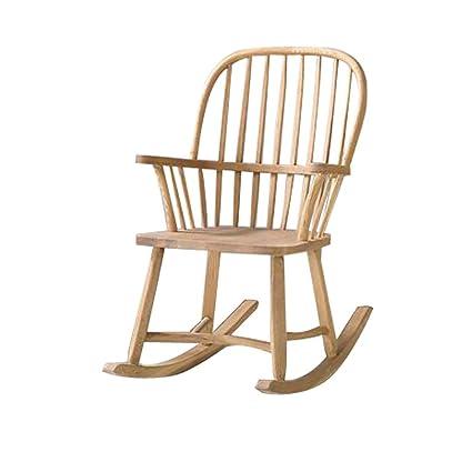 Chaise Bercante Simple Retro Americaine Chaise En Bois